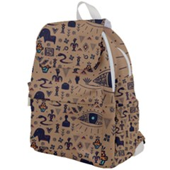 Vintage Tribal Seamless Pattern With Ethnic Motifs Top Flap Backpack