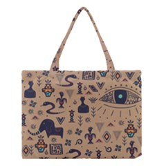 Vintage Tribal Seamless Pattern With Ethnic Motifs Medium Tote Bag