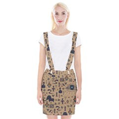 Vintage Tribal Seamless Pattern With Ethnic Motifs Braces Suspender Skirt