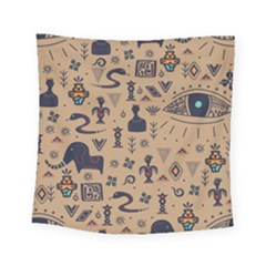 Vintage Tribal Seamless Pattern With Ethnic Motifs Square Tapestry (Small)