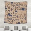 Vintage Tribal Seamless Pattern With Ethnic Motifs Square Tapestry (Large) View2