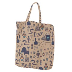 Vintage Tribal Seamless Pattern With Ethnic Motifs Giant Grocery Tote