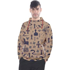 Vintage Tribal Seamless Pattern With Ethnic Motifs Men s Pullover Hoodie