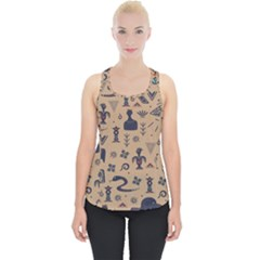 Vintage Tribal Seamless Pattern With Ethnic Motifs Piece Up Tank Top