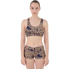 Vintage Tribal Seamless Pattern With Ethnic Motifs Work It Out Gym Set