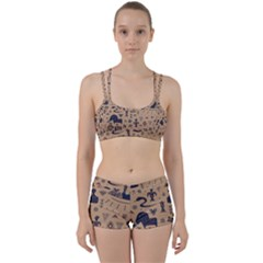 Vintage Tribal Seamless Pattern With Ethnic Motifs Perfect Fit Gym Set