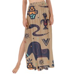 Vintage Tribal Seamless Pattern With Ethnic Motifs Maxi Chiffon Tie-Up Sarong