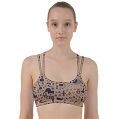 Vintage Tribal Seamless Pattern With Ethnic Motifs Line Them Up Sports Bra
