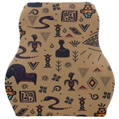 Vintage Tribal Seamless Pattern With Ethnic Motifs Car Seat Velour Cushion