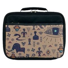 Vintage Tribal Seamless Pattern With Ethnic Motifs Lunch Bag