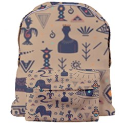 Vintage Tribal Seamless Pattern With Ethnic Motifs Giant Full Print Backpack
