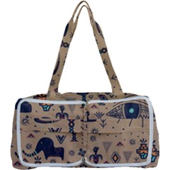 Vintage Tribal Seamless Pattern With Ethnic Motifs Multi Function Bag