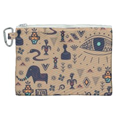 Vintage Tribal Seamless Pattern With Ethnic Motifs Canvas Cosmetic Bag (XL)