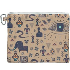 Vintage Tribal Seamless Pattern With Ethnic Motifs Canvas Cosmetic Bag (XXXL)