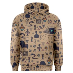 Vintage Tribal Seamless Pattern With Ethnic Motifs Men s Overhead Hoodie