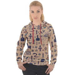 Vintage Tribal Seamless Pattern With Ethnic Motifs Women s Overhead Hoodie