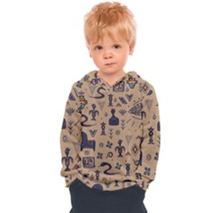 Vintage Tribal Seamless Pattern With Ethnic Motifs Kids  Overhead Hoodie