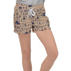 Vintage Tribal Seamless Pattern With Ethnic Motifs Velour Lounge Shorts