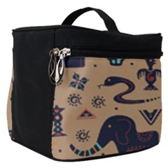 Vintage Tribal Seamless Pattern With Ethnic Motifs Make Up Travel Bag (Small)