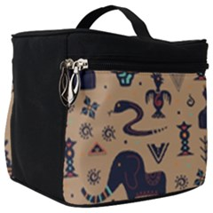 Vintage Tribal Seamless Pattern With Ethnic Motifs Make Up Travel Bag (Big)