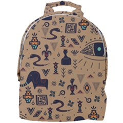 Vintage Tribal Seamless Pattern With Ethnic Motifs Mini Full Print Backpack