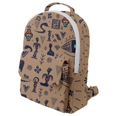 Vintage Tribal Seamless Pattern With Ethnic Motifs Flap Pocket Backpack (Small)