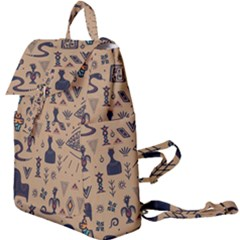 Vintage Tribal Seamless Pattern With Ethnic Motifs Buckle Everyday Backpack