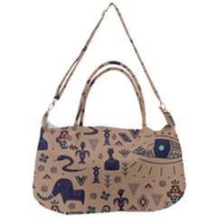 Vintage Tribal Seamless Pattern With Ethnic Motifs Removal Strap Handbag