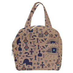 Vintage Tribal Seamless Pattern With Ethnic Motifs Boxy Hand Bag