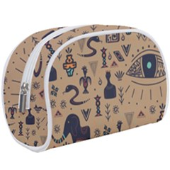 Vintage Tribal Seamless Pattern With Ethnic Motifs Makeup Case (Large)