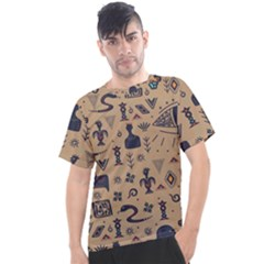 Vintage Tribal Seamless Pattern With Ethnic Motifs Men s Sport Top