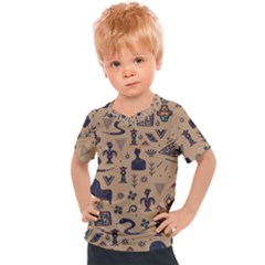 Vintage Tribal Seamless Pattern With Ethnic Motifs Kids  Sports Tee