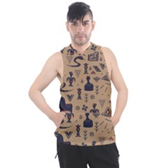 Vintage Tribal Seamless Pattern With Ethnic Motifs Men s Sleeveless Hoodie