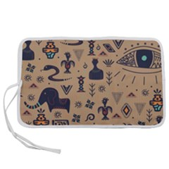 Vintage Tribal Seamless Pattern With Ethnic Motifs Pen Storage Case (L)