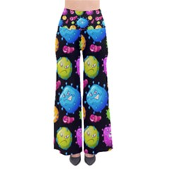 Seamless Background With Colorful Virus So Vintage Palazzo Pants by Vaneshart