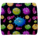 Seamless Background With Colorful Virus Back Support Cushion View1