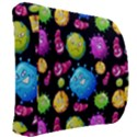 Seamless Background With Colorful Virus Back Support Cushion View2