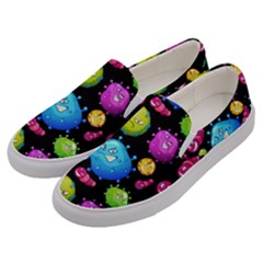 Seamless Background With Colorful Virus Men s Canvas Slip Ons by Vaneshart