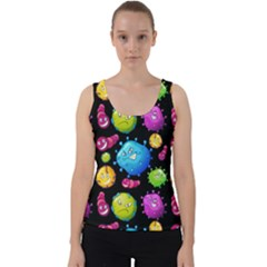 Seamless Background With Colorful Virus Velvet Tank Top