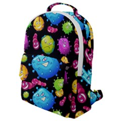Seamless Background With Colorful Virus Flap Pocket Backpack (small) by Vaneshart