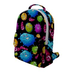 Seamless Background With Colorful Virus Flap Pocket Backpack (large) by Vaneshart