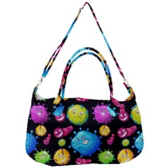 Seamless Background With Colorful Virus Removal Strap Handbag by Vaneshart