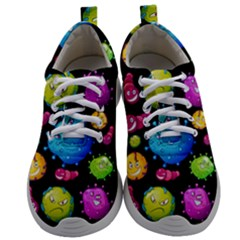 Seamless Background With Colorful Virus Mens Athletic Shoes