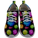 Seamless Background With Colorful Virus Mens Athletic Shoes View1