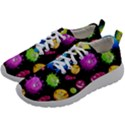 Seamless Background With Colorful Virus Mens Athletic Shoes View2
