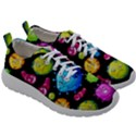 Seamless Background With Colorful Virus Mens Athletic Shoes View3