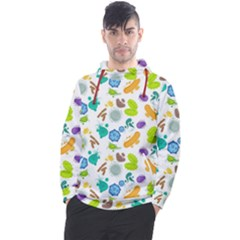 Bacteria Virus Seamless Pattern Men s Pullover Hoodie by Vaneshart
