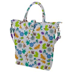 Bacteria Virus Seamless Pattern Buckle Top Tote Bag by Vaneshart
