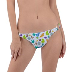 Bacteria Virus Seamless Pattern Ring Detail Bikini Bottom by Vaneshart