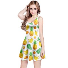 Tropical Fruits Pattern Reversible Sleeveless Dress by Vaneshart